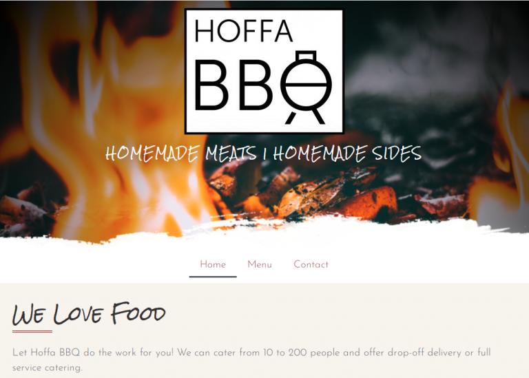 Hoffa BBQ homepage